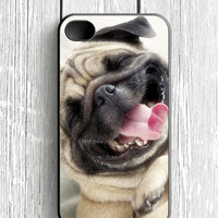 Smile Pug Dog iPhone 4S Case