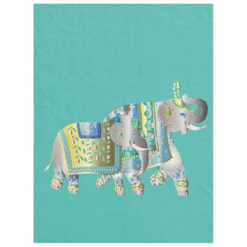 Pair Of Elephants Fleece Blanket