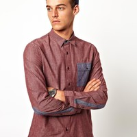 ASOS | ASOS Chambray Shirt With Contrast at ASOS