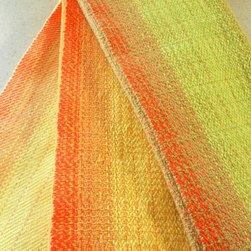 Handwoven Tea Towels, Cotton Guest or Kitchen Towels in Yellow or Green, Hostess Gift