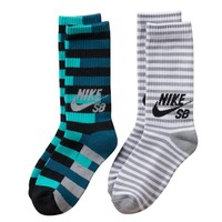 Nike SB 2-Pack Striped Out Crew Socks - Boys 7-11, Size: