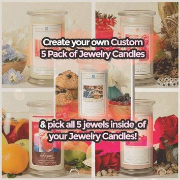 Create Your Own Custom 5 Pack Of Jewelry Candles