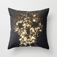 Skull Throw Pillow by Jeans and Tees and Travel and Cakes