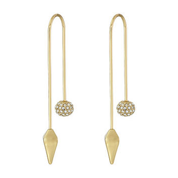 Rebecca Minkoff Cube/Ball Threader Earrings