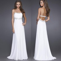 Homecoming Prom dress  Long Dress Evening dress Bridal Gown size 0 2 4 6 8 10