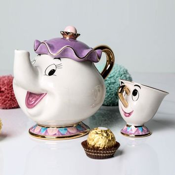 Cartoon Beauty And The Beast Tea Set Teapot Mrs Potts POT Chip Cup Mug One Set for friend Creative Xmas Gift Fast Post