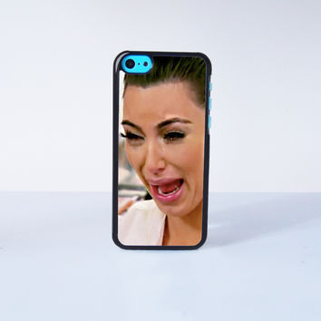 Funny Kim Kardashian Crying  Plastic Case Cover for Apple iPhone 5C 6 Plus 6 5S 5 4 4s