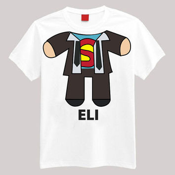 Superman Personalized Shirt Your Name On Shirt Headless Shirt Cartoon Body Shirt