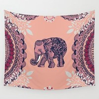 Society6 - Bohemian Elephant Wall Tapestry by Rskinner1122