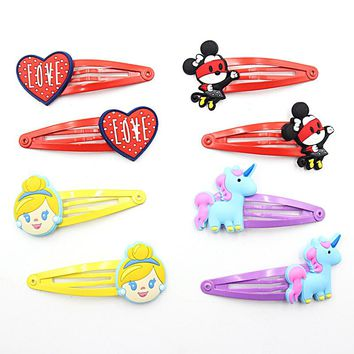2 PCS Cute Cartoon Animal Girls Hair Accessories Baby Hair Clips Kids Hairpins Lovely Children Hair Ornaments Kawaii Hairgrips