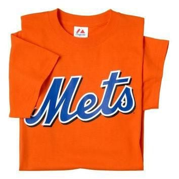 New York Mets (ADULT SMALL) 100% Cotton Crewneck MLB Officially Licensed Majestic Majo