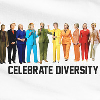 Funny Hillary Clinton Colorful outfits Celebrate diversity loves gays and lesbians tee t-shirt
