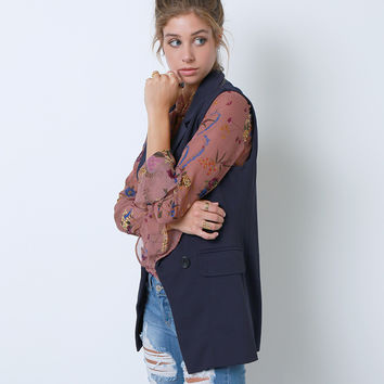 Unlimited Blazer Vest - Navy