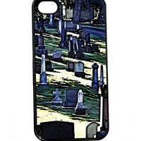 Gothic Cemetery iPhone 4 Case Hard Plastic Substrate