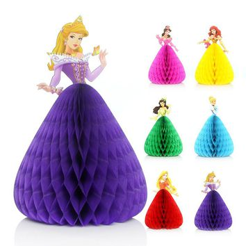 16*11cm 2pcs Lovely Princess Invitation Cards 3D Birthday Party Decorations Party Supplies Wedding Party Decorations