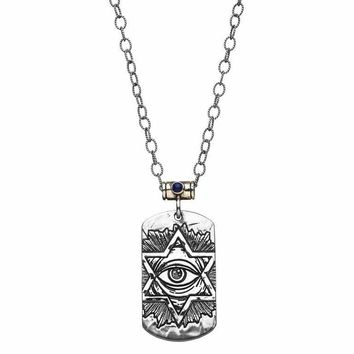 Dog Tag Necklace - Jewish Tattoo Necklace