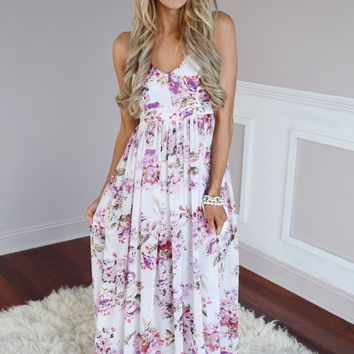 Fields of Freesias Maxi ~ Ivory