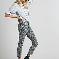 Free People Womens Star Crossed Crop Pant - Black Combo
