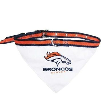 ESBONI Denver Broncos Dog Collar Bandana