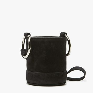 Simon Miller / Bonsai 15 cm Bag in Black Nubuck with Strap