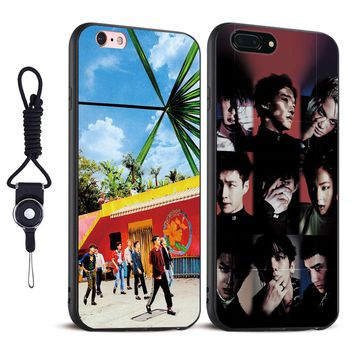 EXO KPop EXO-K Band Soft Silicone Tpu Coque Phone Case Cover Shell For Apple iPhone 5 5S SE 6 6S 6Plus 6sPlus 7 7Plus 8 8Plus X