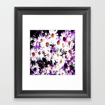 Painted daisy  Framed Art Print by Jessica Ivy