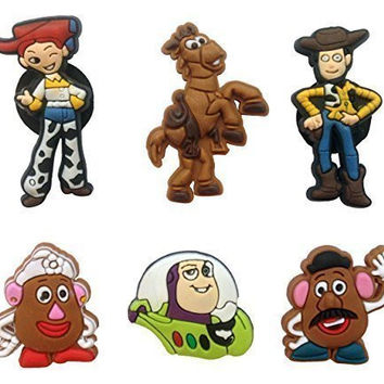 Toy Story Shoe Charms 6 Pcs Set #1