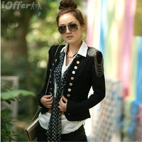 iOffer: NEW WOMEN'S SUIT COAT DOUBLE BUTTON JACKET BLAZERS for sale