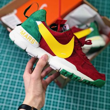Off White X Tom Sachs X Nikecraft Mars Yar 2.0 Red Yellow Sport Running Shoes - Best Online Sale