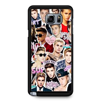 Justin Bieber Collage Samsung Galaxy Note 5 Case