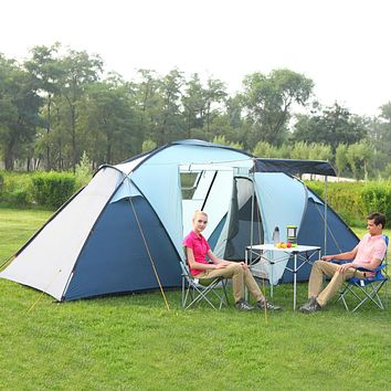 4 Person Tent with 2 Rooms, a Breezeway, and Sun Shade