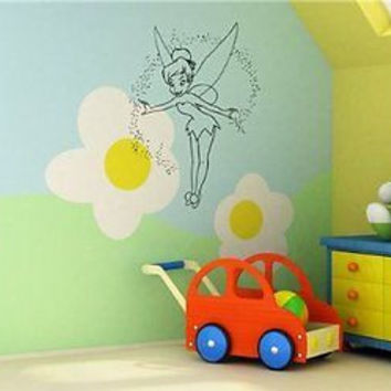 Tinkerbell Peter Pan Cartoon Wall Art Sticker Decal S069