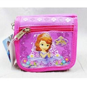 Disney Sofia The First Princess String Shoulder Wallet Bag (styles may vary)-New