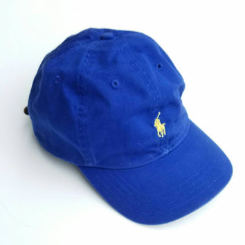 Polo Ralph Lauren Dad Hat With Adjustable Leather Strap Back
