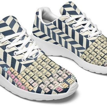 Periodic Table Chevron Sneakers