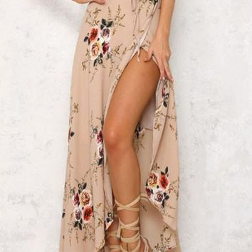 Streetstyle  Casual Boho Multi color Floral Print Bohemian Style Dress
