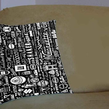 World Car Logo Collage - Pillow Case, Pillow Cover, Custom Pillow Case **