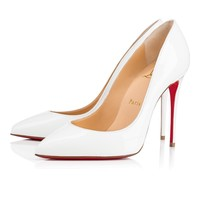 Cl Christian Louboutin Pigalle Follies Latte Patent Leather 14w Bridal 3140495wha8
