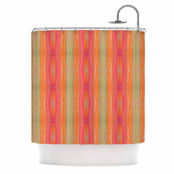 "Nika Martinez ""Summer Tie Dye"" Coral Red Shower Curtain"