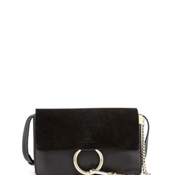 Chloe Fay Suede-Flap Shoulder Bag