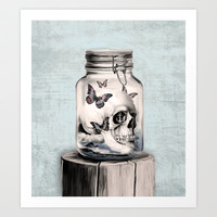 Lost thoughts Art Print by Kristy Patterson Design