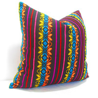 Tribal Pillow cover 12X16, Bohemian Decor, Boho Bedding, black Pillow Cover, Mexican tribal pillow cover. gift for her , christmas gift