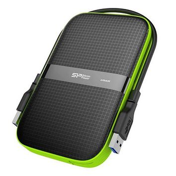 "External Hard Drive Silicon Power A60 2.5"" USB 3.0 1 TB Anti-shock Waterproof Black"