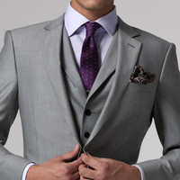 Gray Wedding Tuxedo Custom Made Grey Suits Gray Groom Suit Mens Gray Tuxedo Jacket,2017 Grey Wedding Tuxedos,3 Piece Grey Suit