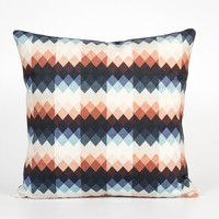 18x18 Pillow Cover. Velvet Cushion Cover. Geometric Decor. 18x18 Cushion Cover. Geometric Home Decor. Orange Blue Pillow. Blue Beige Pillow