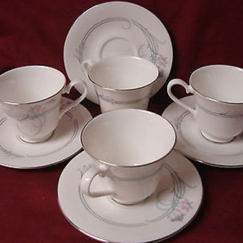 Royal Doulton, China dinnerware  Allegro, Pattern #H5109 4 Cup and saucer
