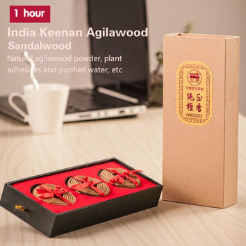 India keenan agilawood+sandalwood incense coils,20 kinds of natural ingredients.5cm+60 coils+1 hour.Rich & exotic heady scent.