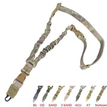 Tactical single Point Rifle Sling ShotGun Strap Adjustable Hunting, Airsoft, Firearm Safety Shooting Accessories