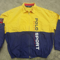 Vintage POLO SPORT Ralph Lauren Big  Spell Out Jacket Pwing Rl-67 Very Rare