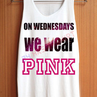On Wednesday We Wear Pink Shirt Pink Galaxy Shirts Top Tank Top Tee Tunic Singlet Women - Size S M L